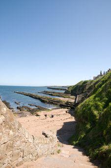 Free Coast Near The Castle Stock Image - 9799241