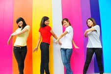 Young Ladies In Casual Royalty Free Stock Images