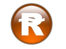 Free Riyal Money Symbol Glass Butto Stock Image - 980581