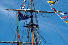 Mast And Crows Nest Royalty Free Stock Photo