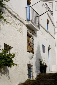 Street In Cadaques, Catalonia Royalty Free Stock Photography