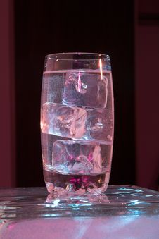 Free Glass Of Water With Ice Stock Photo - 982640