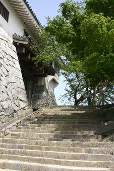 Free Japanese Stone Steps Royalty Free Stock Photos - 982908