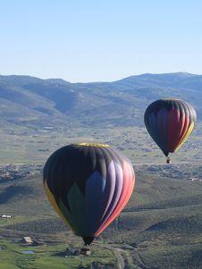 Balloons Over America Royalty Free Stock Photos