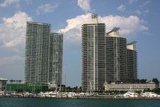 Free Miami Apartment Blocks Stock Photo - 983950