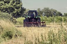 Harvest - Tractor In Front 02 Stock Photo