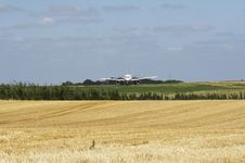 Free Harvest - Aeroplane On Runway Behind 05 Stock Image - 986051