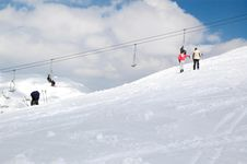 Free Skier And Mountain II Stock Image - 987961