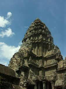 Free Angkor Wat Temple Royalty Free Stock Photography - 988047