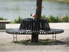 Free Bench On A Bay Royalty Free Stock Image - 988156