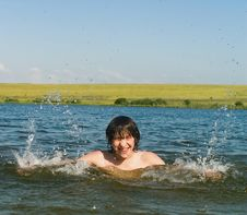 Free Boy In Water Royalty Free Stock Photos - 988268
