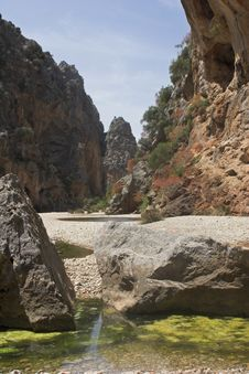 Dried River Gorge Royalty Free Stock Images