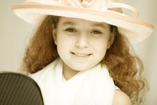 Free Girl In Fancy Hat Royalty Free Stock Photo - 989325