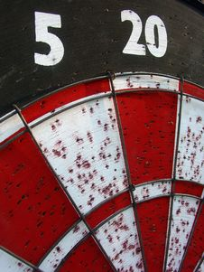 Free Dartboard Macro Royalty Free Stock Images - 989329