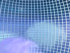 Free Globe Grid In The Skies - Interior Royalty Free Stock Photo - 989445