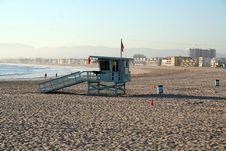 Lifeguard Cabin On The Beach Royalty Free Stock Images