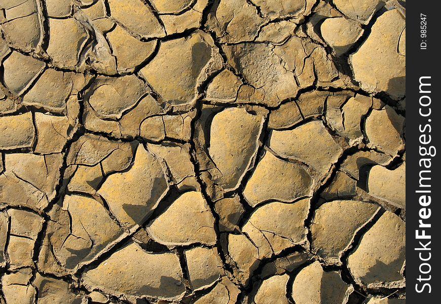 Choppy, dry ground