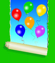 Free Six Colourful Party Balloons Royalty Free Stock Photos - 9806748