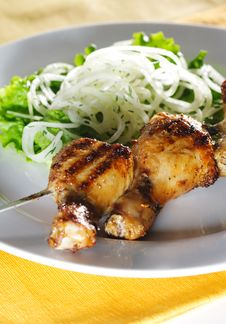 Free Grilled Chicken Legs Royalty Free Stock Photos - 9800068