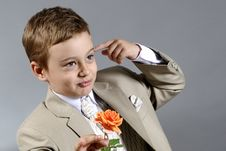 Free Boy With Flower Royalty Free Stock Image - 9801016