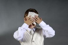 Free Worried Boy Stock Image - 9801041