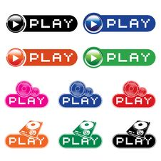 Free Set Of  Musical Buttons Stock Photography - 9802372