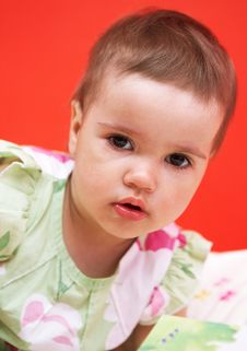 Free Portrait Of Adorable Baby Stock Images - 9803464