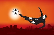 Free Grunge Style Football Illustration Stock Photography - 9803482