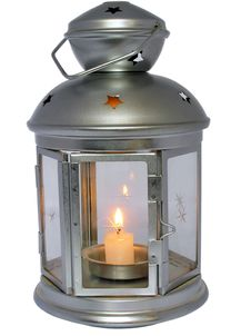 Free Lamp With Candle Stock Photography - 9803552