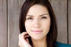 Free Beautiful Brunette With Fresh Skin Royalty Free Stock Image - 9803586