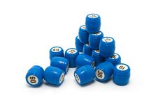 Free Blue Barrels Lotto, Gambling Stock Photography - 9803672