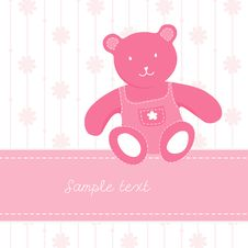 Free Colorful Illustration With Teddy Bear Stock Photos - 9803793