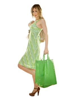 Free Happy Cute Young Woman Shopping Stock Photos - 9803803