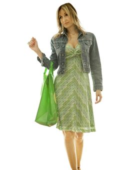 Happy Cute Young Woman Shopping Royalty Free Stock Image