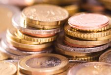 Free Euro Coins Royalty Free Stock Photo - 9804075