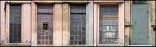 Set Of Industrial Windows And Door Stock Photos