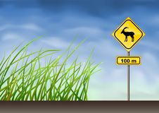 Goats Warning Sign Royalty Free Stock Photo