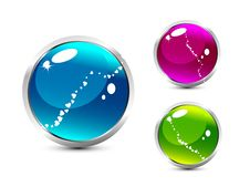 Free Aqua Buttons Stock Photo - 9805440
