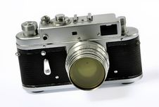 Vintage Photo Camera Stock Image