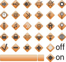 Free Web Icons, Buttons Royalty Free Stock Photo - 9806225