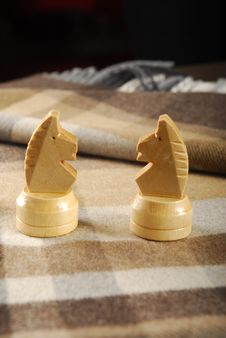 Free Two Chess Knights Royalty Free Stock Photos - 9806398