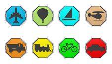 Free Transport Icons Stock Image - 9806661