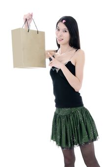Free Asian Shopping Girl Stock Image - 9806861