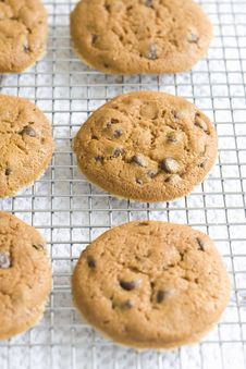 Free Chocolate Chip Cookies Stock Image - 9807671