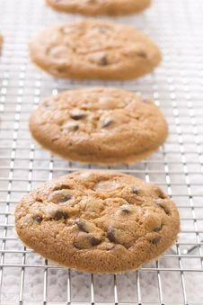 Free Chocolate Chip Cookies Royalty Free Stock Photo - 9807695