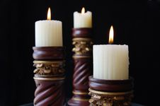 Free Candles Royalty Free Stock Photography - 9807797