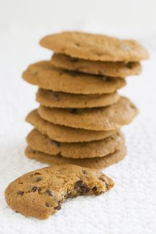 Free Chocolate Chip Cookies Stock Photo - 9807810