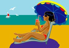 Free Beach Girl Stock Images - 9807854