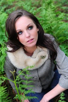 Free Portrait Of A Young Attractive Brunette Stock Image - 9807991