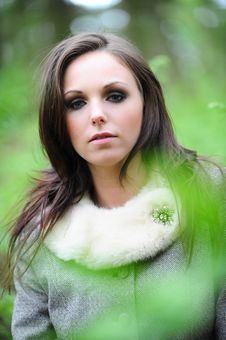 Free Attractive Young Brunette Female Stock Image - 9808301
